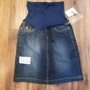 Oh Baby Denim Maternity Blue Jean Skirt